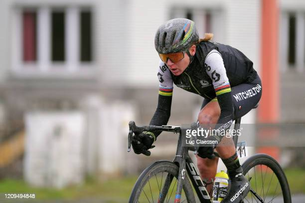 Annemiek Van Vleuten of The Netherlands and Team Mitchelton-SCOTT / during the 75th Omloop Het Nieuwsblad 2020, Women Race a 122,9km race from Ghent...