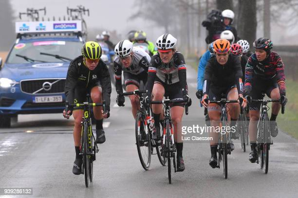 Annemiek Van Vleuten of The Netherlands and Team MitcheltonScott / Ellen van Dijk of The Netherlands and Team Sunweb / Floortje Mackaij of The...