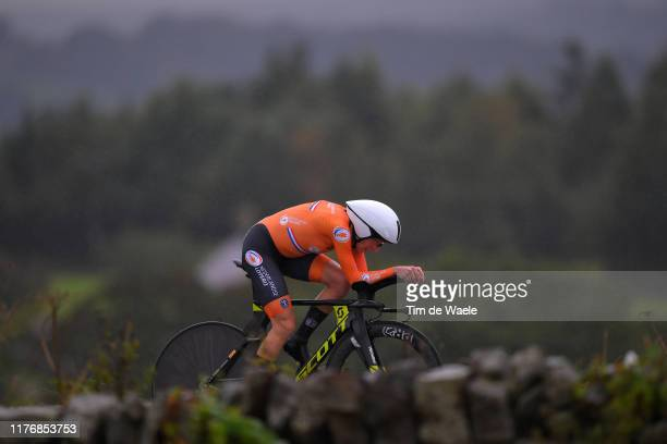 Annemiek Van Vleuten of The Netherlands / during the 92nd UCI Road World Championships 2019 Women Elite Individual Time Trial a 303km Individual Time...