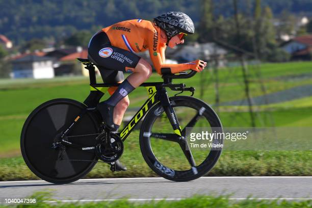 Annemiek Van Vleuten of The Netherlands / during the Women Elite Individual Time Trial a 27,8km race from Wattens to Innsbruck 582m at the 91st UCI...