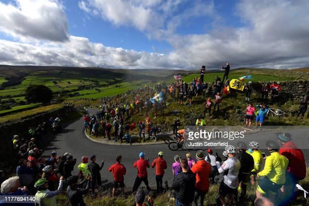 Annemiek Van Vleuten of The Netherlands / Lofthouse Climb / Public / Fans / Landscape / during the 92nd UCI Road World Championships 2019, Women...