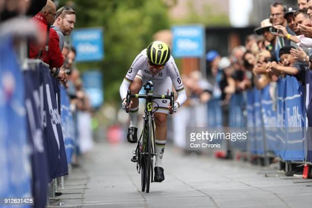 Annemiek Van Vluten MitcheltonScott competes during Women's 2018 Herald Sun Tour Prologue 16km Individual Time Trial on January 31 2018 in Melbourne...