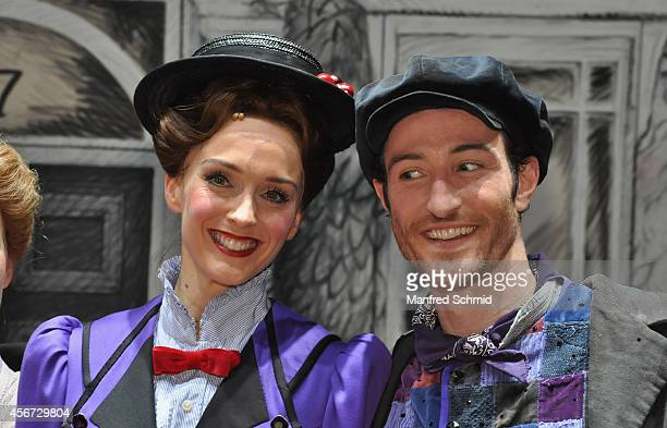 Annemieke Van Dam and David Boyd pose for a photograph during the Mary Poppins musical premiere at Ronacher Theater on October 1 2014 in Vienna...
