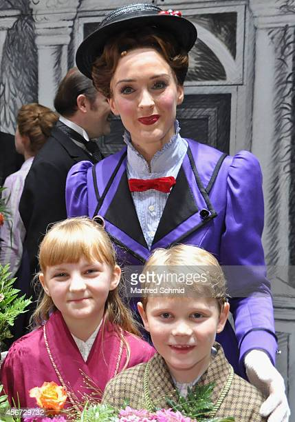 Annemieke Van Dam poses for a photograph during the Mary Poppins musical premiere at Ronacher Theater on October 1 2014 in Vienna Austria