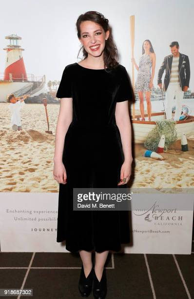 Annes Elwy attends the Newport Beach Film Festival UK Honours in association with Visit Newport Beach at The Rosewood Hotel on February 15 2018 in...
