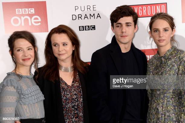 Annes Elwy Emily Watson Jonah HauerKing and Maya Hawke attend the 'Little Women' special screening at The Soho Hotel on December 11 2017 in London...