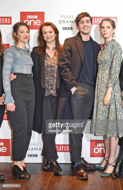 Annes Elwy Emily Watson Jonah HauerKing and Maya ThurmanHawke attend a special screening of new BBC drama Little Women at The Soho Hotel on December...