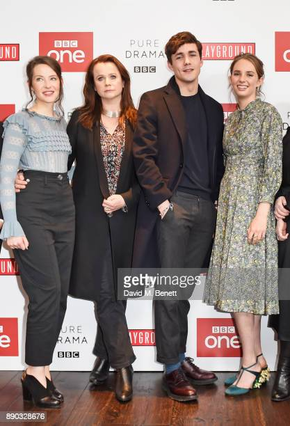 Annes Elwy Emily Watson Jonah HauerKing and Maya ThurmanHawke attend a special screening of new BBC drama 'Little Women' at The Soho Hotel on...