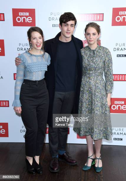 Annes Elwy Jonah HauerKing and Maya Hawke attend the 'Little Women' special screening at The Soho Hotel on December 11 2017 in London England