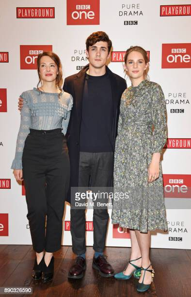 Annes Elwy Jonah HauerKing and Maya ThurmanHawke attend a special screening of new BBC drama Little Women at The Soho Hotel on December 11 2017 in...