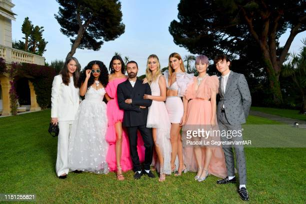 AnneSofie Johannson HER Kendall Jenner Giambattista Valli Chiara Ferragni Bianca Brandolini Chris Lee and Ross Lynch attend the amfAR Cannes Gala...