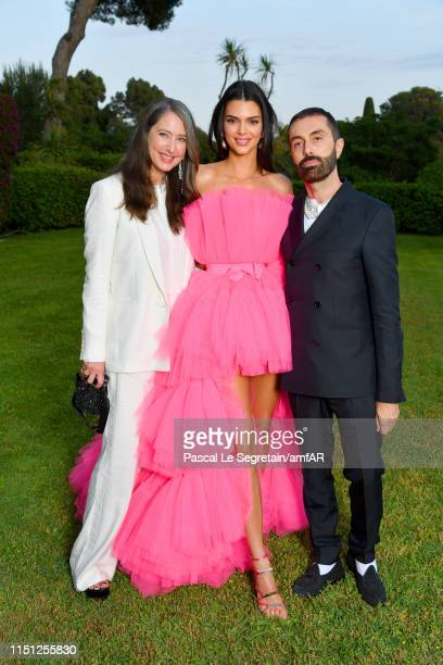 Anne-Sofie Johannson, Kendall Jenner and Giambattista Valli attends the amfAR Cannes Gala 2019 at Hotel du Cap-Eden-Roc on May 23, 2019 in Cap...