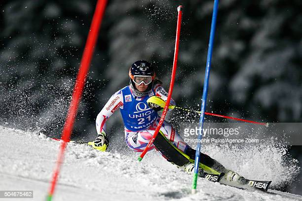 AnneSophie Barthet of France competes during the Audi FIS Alpine Ski World Cup Women's Slalom on January 12 2016 in Flachau Austria