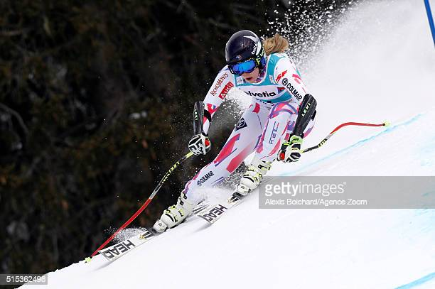 AnneSophie Barthet of France competes during the Audi FIS Alpine Ski World Cup Women's Super Combined on March 13 2016 in Lenzerheide Switzerland