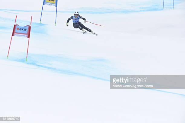 Annesophie Barthet of France competes during the Audi FIS Alpine Ski World Cup Women's Alpine Combined on February 24 2017 in Crans Montana...