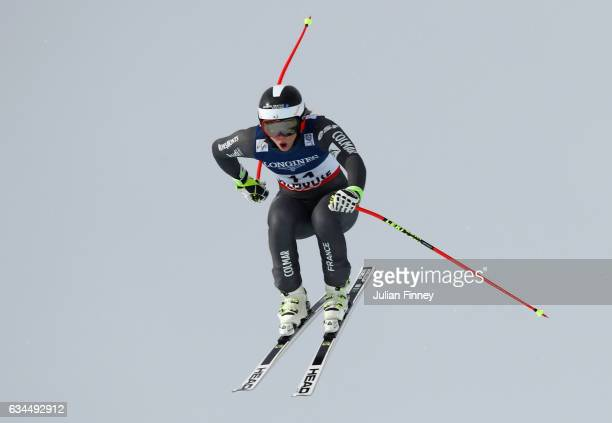 AnneSophie Barthet of France competes during the Women's Combined Downhill during the FIS Alpine World Ski Championships on February 10 2017 in St...