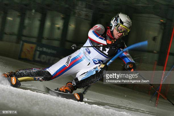 AnneSophie Barthet of France during the Alpine Ski European Indoor Championships Women's KO Slalom on November 7 2009 in Amneville France