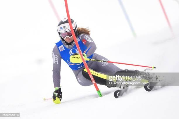 Annesophie Barthet of France during the Audi FIS Alpine Ski World Cup Women's Slalom on December 28 2017 in Lienz Austria