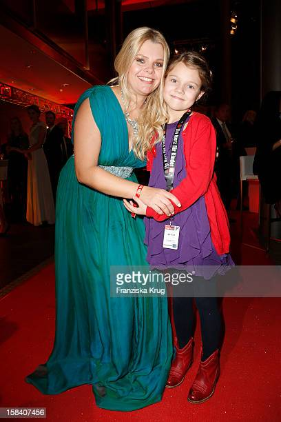 AnneSophie Briest and daughter Faye attend the 'Ein Herz Fuer Kinder Gala 2012' on December 15 2012 in Berlin Germany