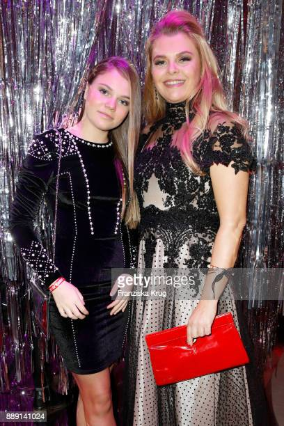 AnneSophie Briest and her daughter Faye Montana attend the Ein Herz Fuer Kinder Gala reception at Studio Berlin Adlershof on December 9 2017 in...