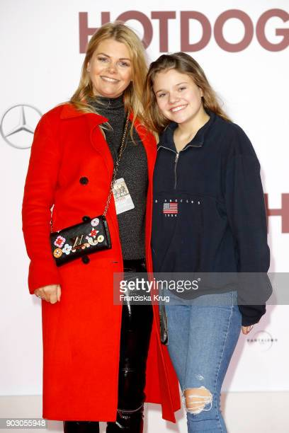 AnneSophie Briest and her daughter Faye Montana attend the 'Hot Dog' Premiere at CineStar on January 9 2018 in Berlin Germany