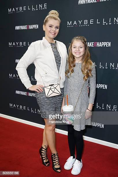 AnneSophie Briest and her daughter Faye Montana attend the 'The Power Of Colors MAYBELLINE New York MakeUp Runway' show during the MercedesBenz...