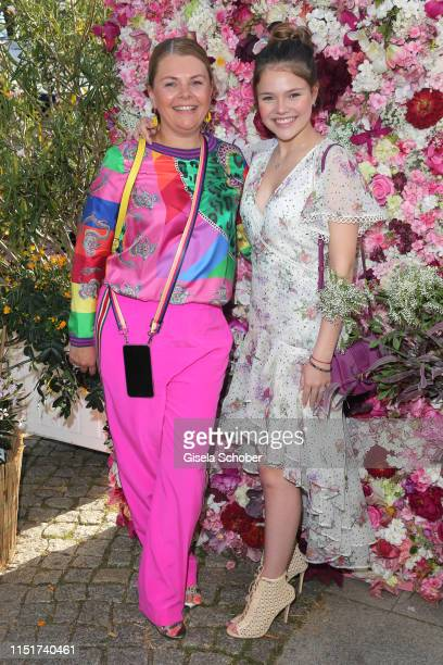 AnneSophie Briest and her daughter Faye Montana during the Ein Herz fuer Kinder summer party on June 24 2019 at Wannseeterrassen in Berlin Germany