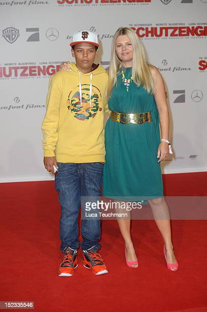 AnneSophie Briest and Jahmar Walker attend the premiere of 'Schutzengel' at Sony Center on September 18 2012 in Berlin Germany