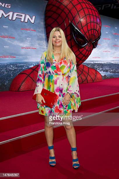 'BERLIN GERMANY JUNE 20 AnneSophie Briest attends the Germany premiere of ''The Amazing SpiderMan'' at Sony Center on June 20 2012 in Berlin Germany '