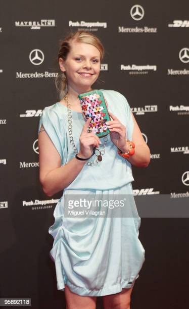 AnneSophie Briest attends the Sam Frenzel Fashion Show during the MercedesBenz Fashion Week Berlin Autumn/Winter 2010 at the Bebelplatz on January 20...