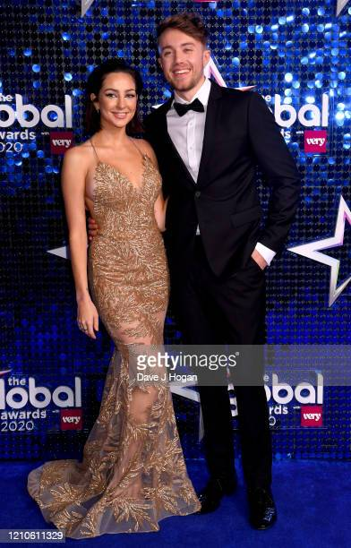 AnneSophie Flury and Roman Kemp attend The Global Awards 2020 at Eventim Apollo Hammersmith on March 05 2020 in London England