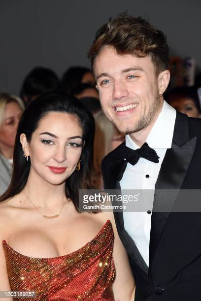 AnneSophie Flury and Roman Kemp attend the National Television Awards 2020 at The O2 Arena on January 28 2020 in London England