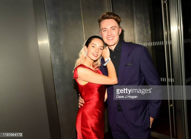 AnneSophie Flury and Roman Kemp attend the Sony Music BRIT awards after party at aqua shard on February 20 2019 in London England