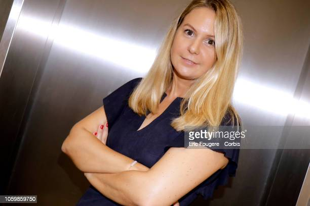 AnneSophie Frenove poses during a portrait session in Paris France on