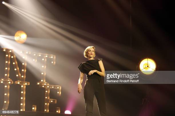 AnneSophie Girard performs during the 10th Anniversary of Le Point Virgule at L'Olympia on June 10 2017 in Paris France