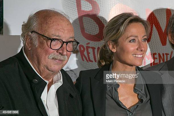 AnneSophie Lapix and Gerard Lanvin attend the 'Bon Retablissement' Premiere at Theatre Edouard VII on September 8 2014 in Paris France