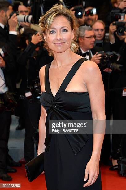 AnneSophie Lapix arrives at the Amour Premiere during the 65th Cannes Film Festival