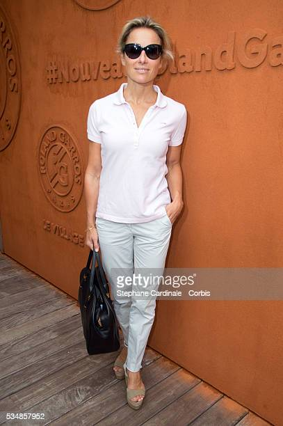 AnneSophie Lapix attend day seven of the 2016 French Open at Roland Garros on May 28 2016 in Paris France