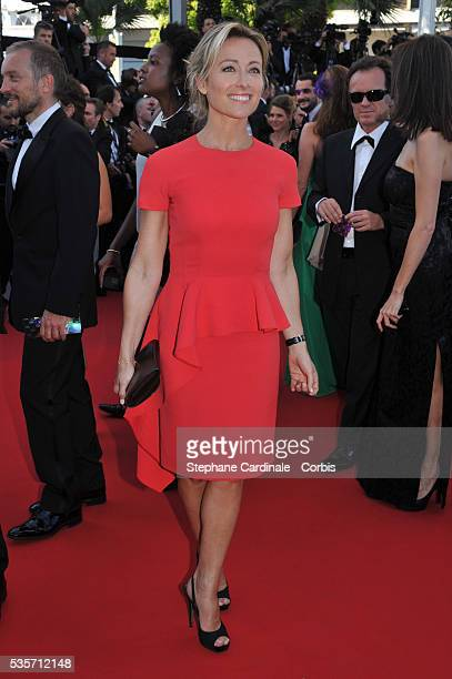 AnneSophie Lapix attends 'Le Passe'' premiere during the 66th Cannes International Film Festival