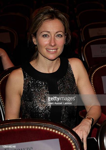 AnneSophie Lapix attends the 36th Cesar Film Awards at Theatre du Chatelet on February 25 2011 in Paris France