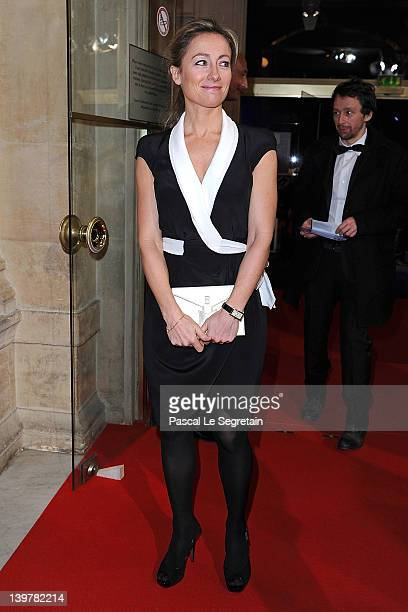 AnneSophie Lapix attends the 37th Cesar Film Awards at Theatre du Chatelet on February 24 2012 in Paris France