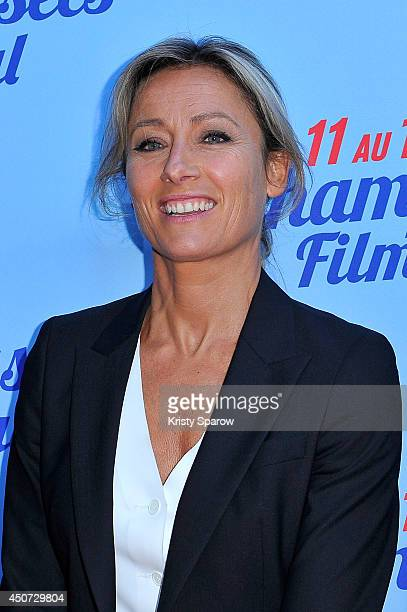AnneSophie Lapix attends the Bon Retablissement Paris Premiere during Day 6 of the Champs Elysees Film Festival on June 16 2014 in Paris France