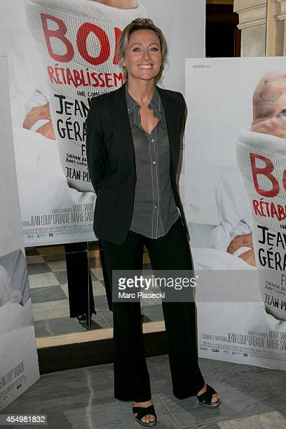 AnneSophie Lapix attends the 'Bon Retablissement' Premiere at Theatre Edouard VII on September 8 2014 in Paris France