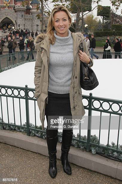 AnneSophie Lapix attends the Christmas Lights Switching on day at Disneyland Resort Paris on November 15 2008 in Marne la Valle France