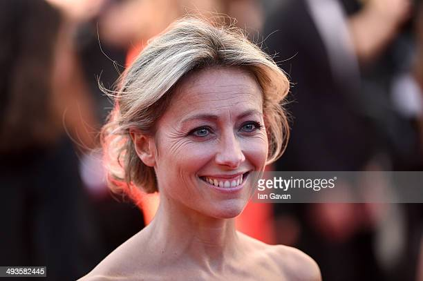 AnneSophie Lapix attends the Closing Ceremony and A Fistful of Dollars screening during the 67th Annual Cannes Film Festival on May 24 2014 in Cannes...