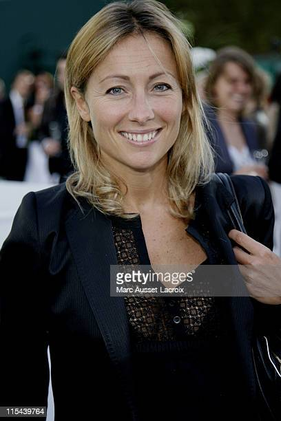 AnneSophie Lapix attends the Lacoste 75 years celebration at Roland Garros on June 18 2008 in Paris France