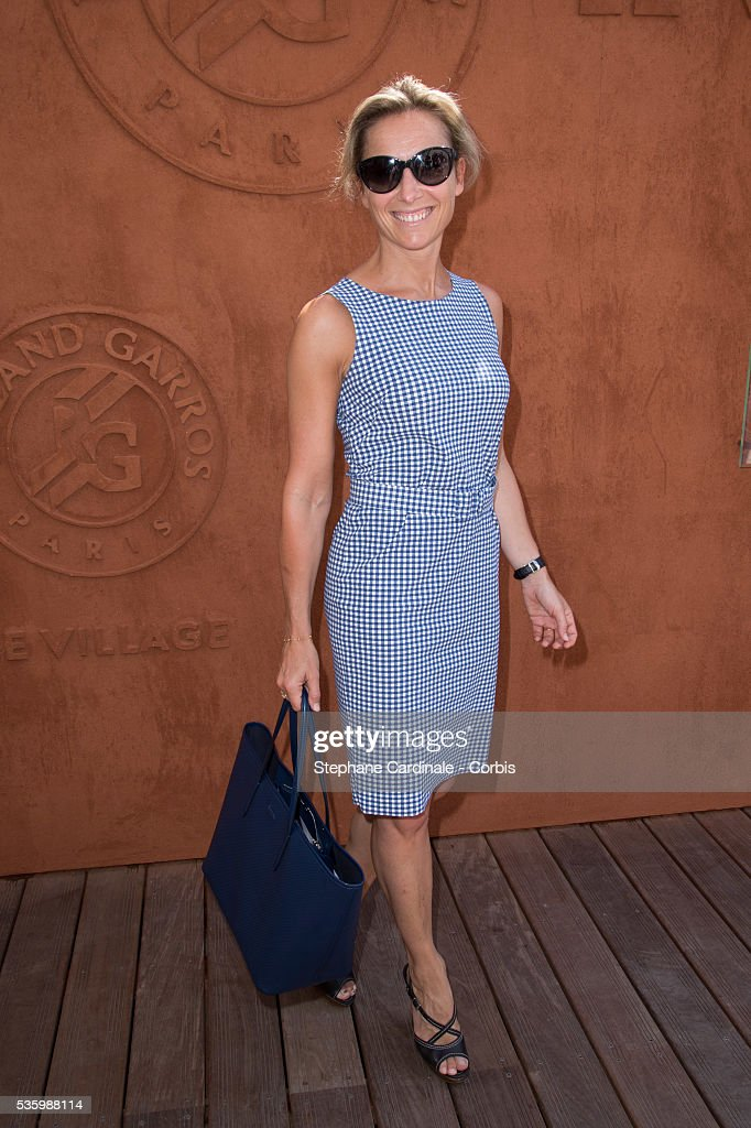 Anne-Sophie Lapix attends the Roland Garros French Tennis Open 2014.