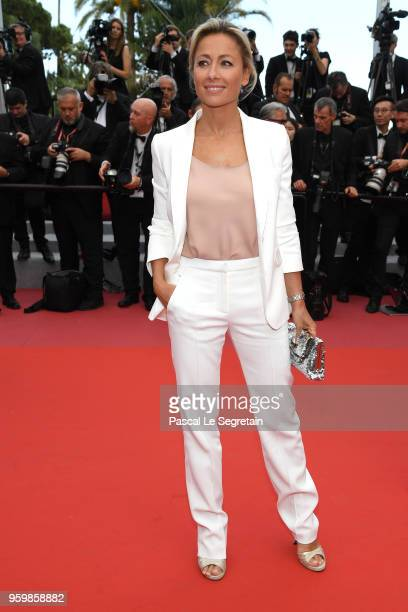 AnneSophie Lapix attends the screening of 'The Wild Pear Tree ' during the 71st annual Cannes Film Festival at Palais des Festivals on May 18 2018 in...
