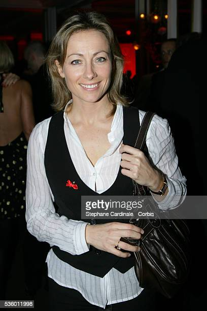 AnneSophie Lapix attends the Sidaction charity dinner