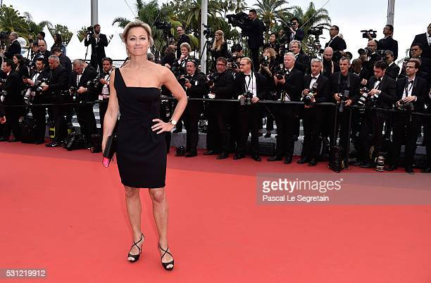 AnneSophie Lapix attends the Slack Bay premiere during the 69th annual Cannes Film Festival at the Palais des Festivals on May 13 2016 in Cannes...